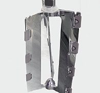Three bladed mixer in stainless steel